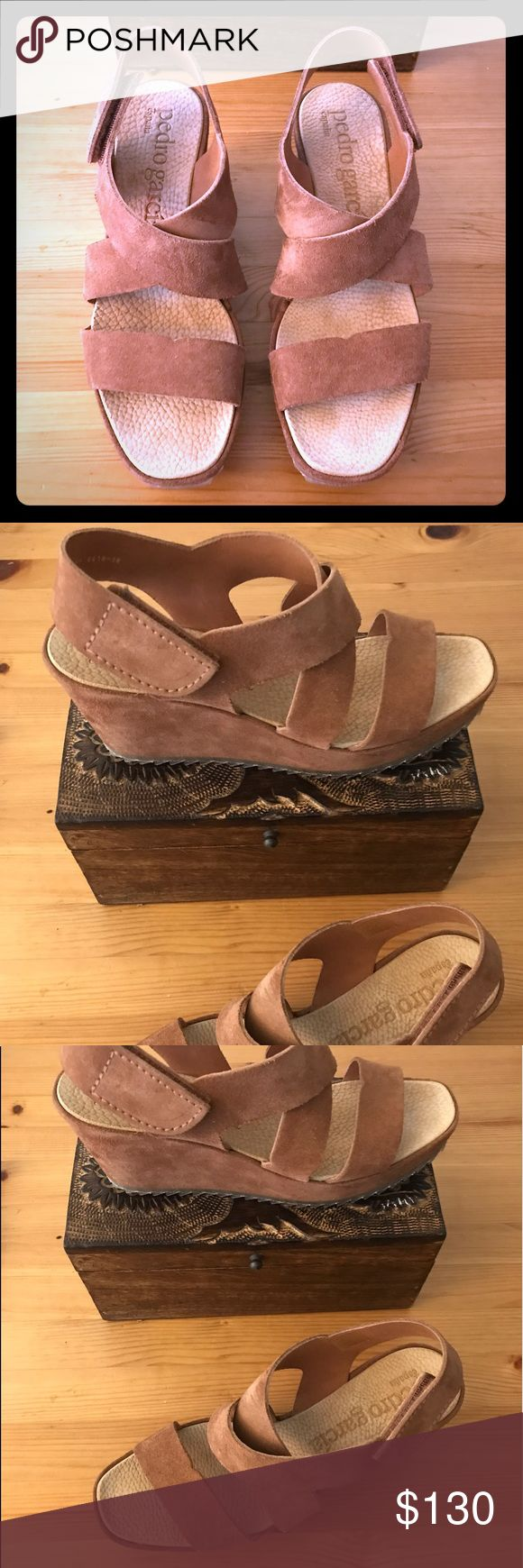Gorgeous Pedro Garcia Wedges Beautiful brown wedges in brow suade! These sandals are super nice and comfortable.  Reasonable offers welcome! Pedro Garcia Shoes Wedges