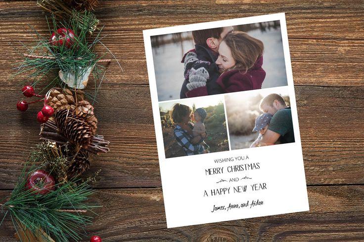 Photo Christmas Card, Custom Holiday Card, Family Christmas Card, Printable Christmas Card, Custom Photo Card, Merry Christmas Card 5x7 by yellowbellyproject on Etsy