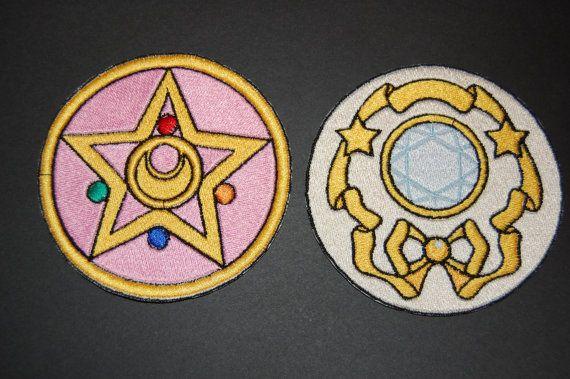 Sailor Moon Locket Iron On Patch Set