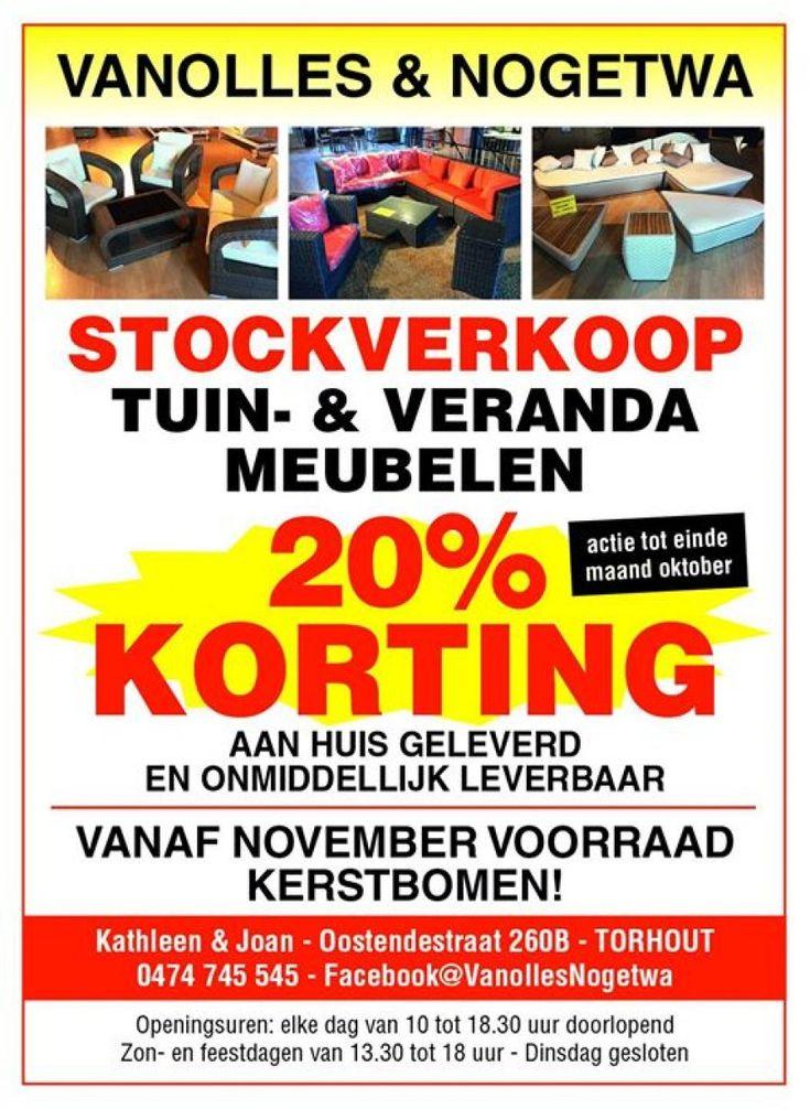 Stockverkoop tuin en veranda meubelen -- Torhout -- 07/10-20/10