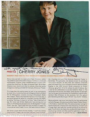 CHERRY JONES MOVIE & STAGE ACTRESS VINTAGE AUTOGRAPH SIGNED MAGAZINE PAGE