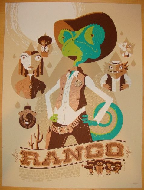 55 best rango images on pinterest filme johnny depp e bonecos vinil 2012 rango silkscreen movie poster by tom whalen fandeluxe Gallery