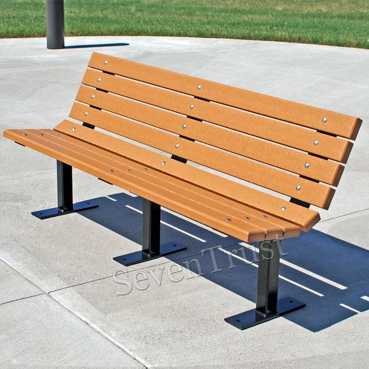 Maintenance Free Garden Bench Part - 20: ... Park Bench - Designed For Comfort And Durability, The Contour Park U0026  Sport Bench Is Created From Recycled Plastic. Practically Maintenance Free  ...