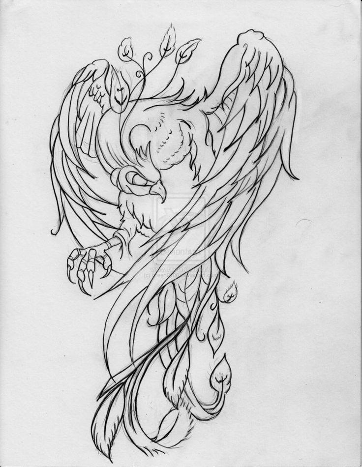 рисунки феникса для татуировок гибкий