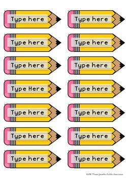 Pencil Name Tags FREE                                                                                                                                                                                 More