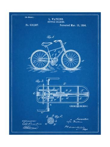 Bicycle Gearing Patent Prints - AllPosters.ca