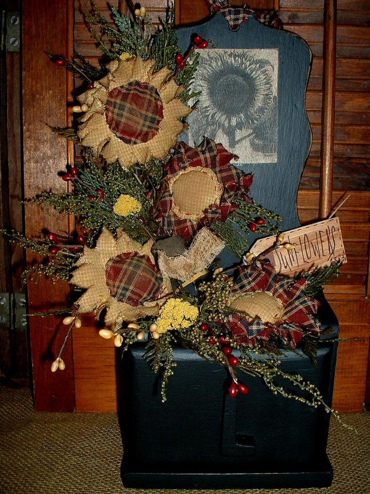 Primitive Decorpainted Wood Cubby Shelf Labelsunflowersbee