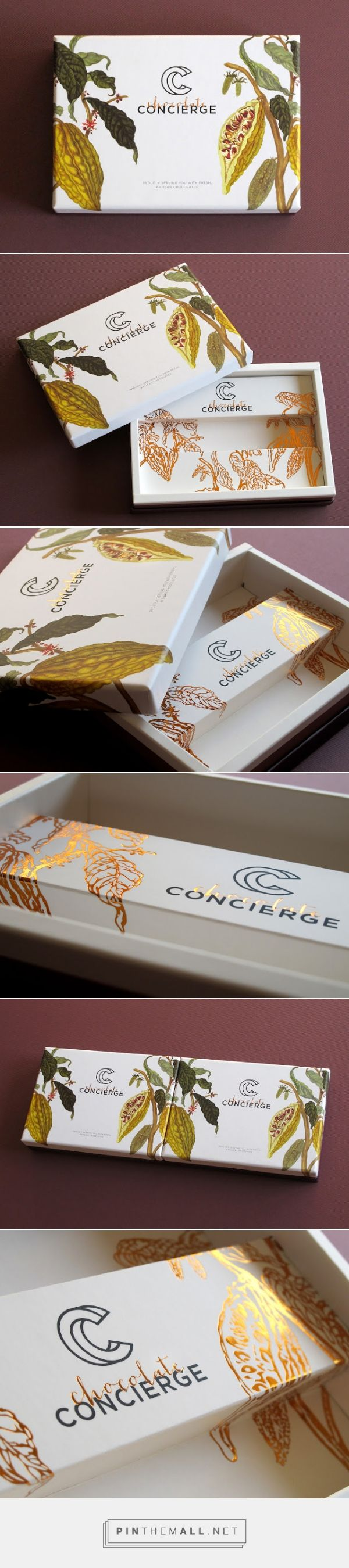 Chocolate Concierge packaging designed by anagraphic​ - http://www.packagingoftheworld.com/2015/09/chocolate-concierge.html