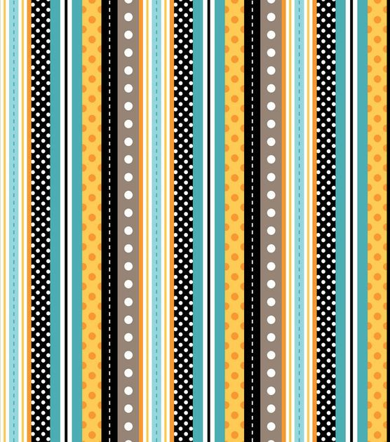 Nursery fabric polka dots stripe teal yellow teal dots for Yellow nursery fabric