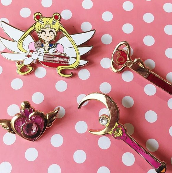 Sailor Moon Pins from thelanterngirlshop.com