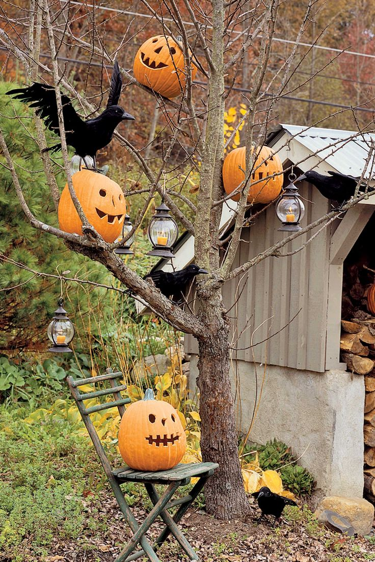 Outdoor halloween decorations for trees - 35 Spooktacular Outdoor Halloween Decorations