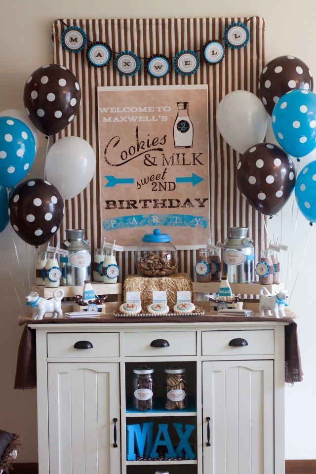 A Sweet Milk & Cookies Party : Anders Ruff Custom Designs :