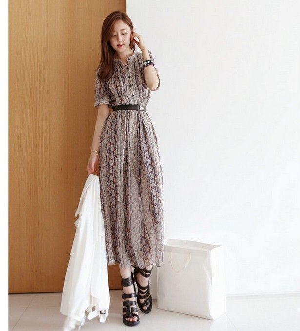 Модное длинное платье в полоску, много размеров на выбор
