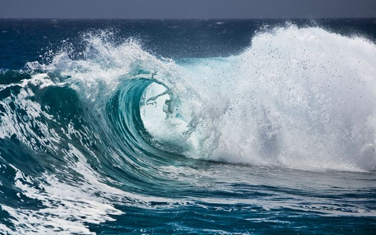 вода, брызги, волны, пена, океан