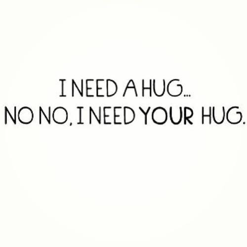 Hugs, 'cause there is a difference- and they just don't get it