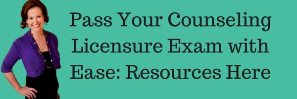 Trust me! These resources will help you pass your Licensure Exam for Mental Health Counselors