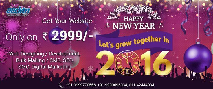 Wish you Happy New Year 2016. aaditritechnology.com