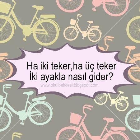 #bilmece #bilmeceler #okulöncesi #ilkokul #anasınıfı #resimlibilmece #bisiklet #okul #çocuk