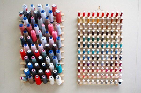Dust Free Thread Clear Plastic Thread Rack Covers