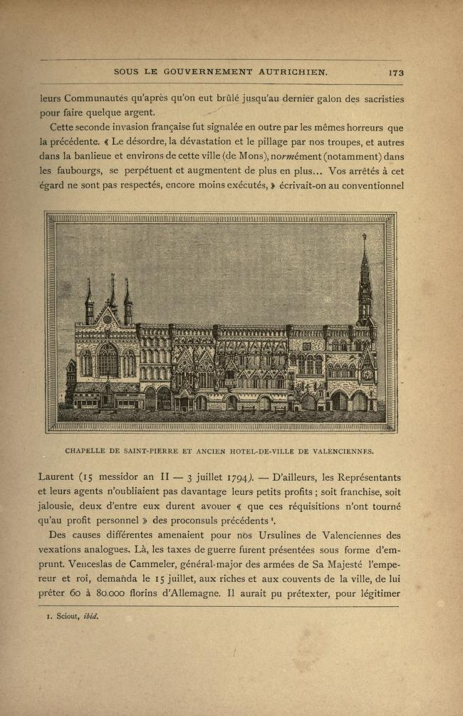 Chapelle de Saint-Pierre et ancien Hôtel de Ville. 1794.