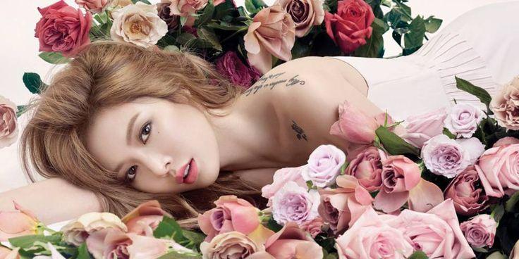 #HyunA #Awesome #album #Allure #magazine #photoshoot #kpop #singer #roses