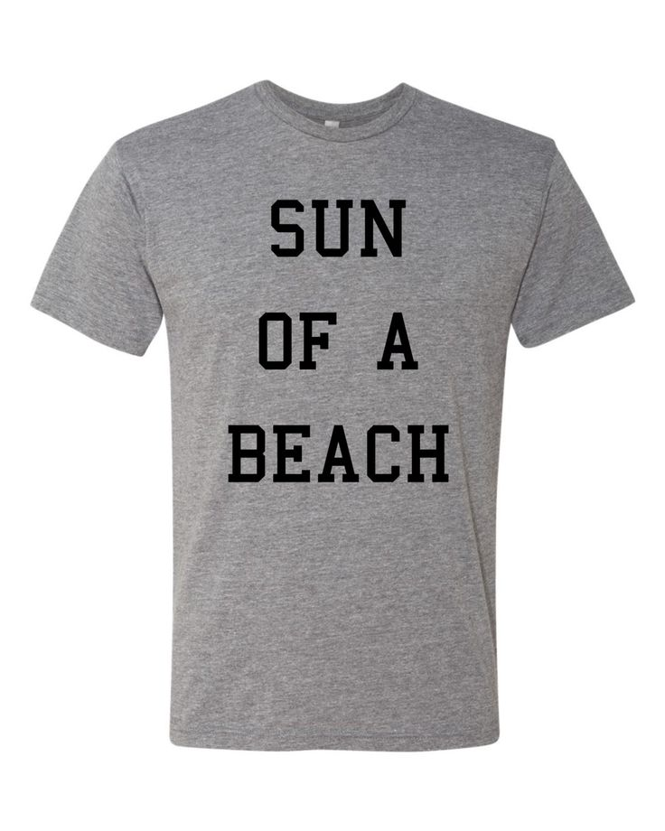 Sun of a Beach funny Vacation Tshirt by shirtsforlife on Etsy