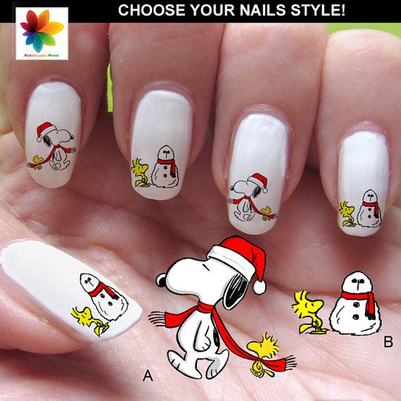 Hey, I found this really awesome Etsy listing at https://www.etsy.com/listing/170887419/christmas-snoopy-nail-decals-peanuts
