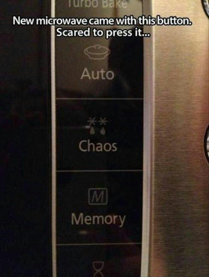 microwave settings clean funny