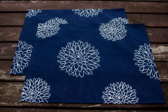 Set of 4 Blue Placemats Handmade Dining Supplies Rustic