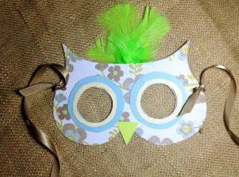Owl Birthday Party Mask