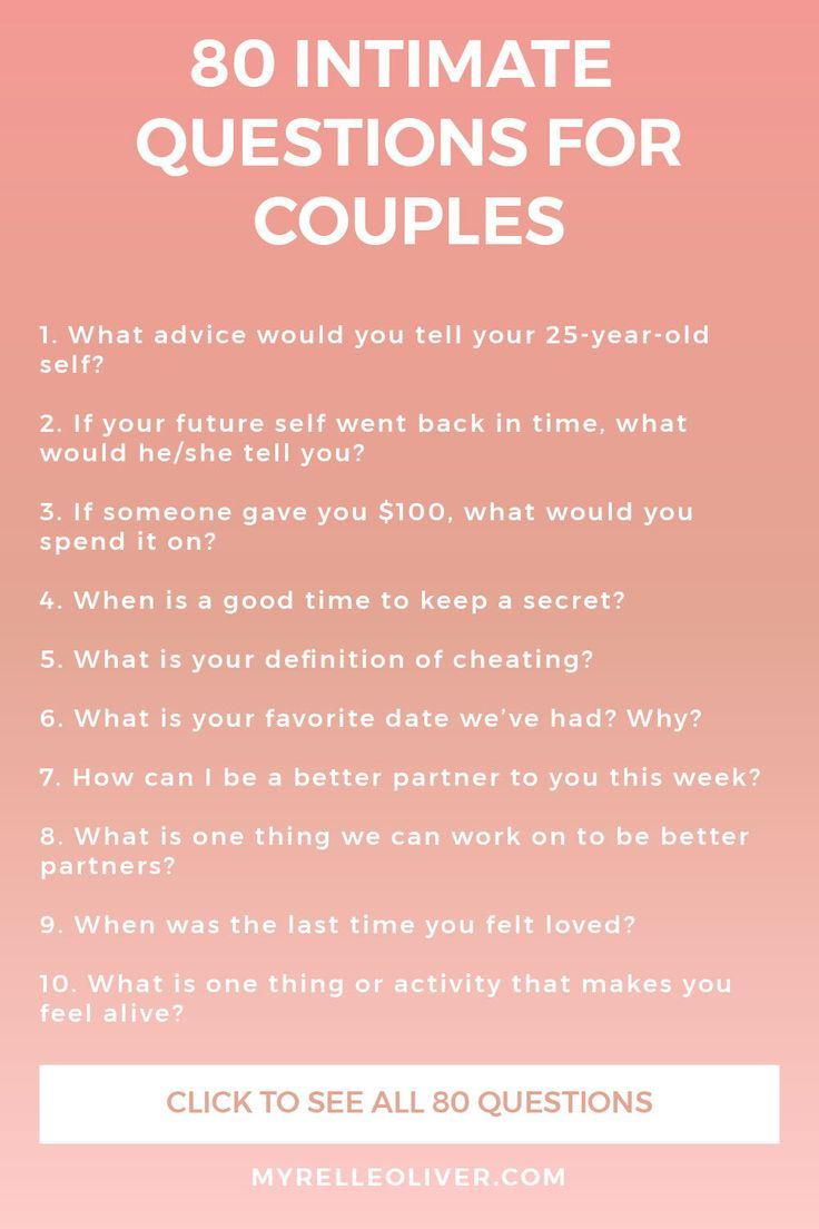 question for dating couple