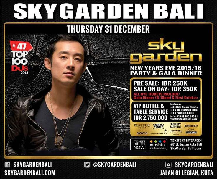 SKY GARDEN NEW YEARS EVE 15/16 Party and Gala Dinner, TICKET ON SALE NOW