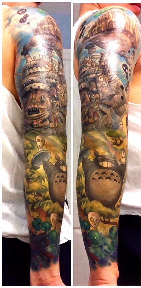 "Tattoo by Andy Kurth / ""As far as time on the chair, there was about 32 hours worth of work put in over the course of the next year and a half."" 