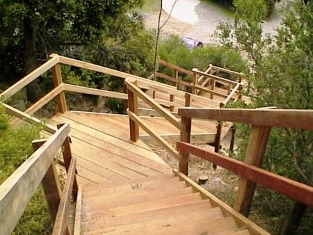213 best images about lake stairs on pinterest stairs for Cost of building on a steep slope