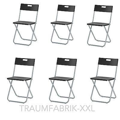 6 ikea klappst hle klappstuhl b ro konferenz besucher. Black Bedroom Furniture Sets. Home Design Ideas