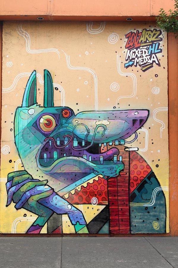 Artists: Aryz + Saner in Mexico