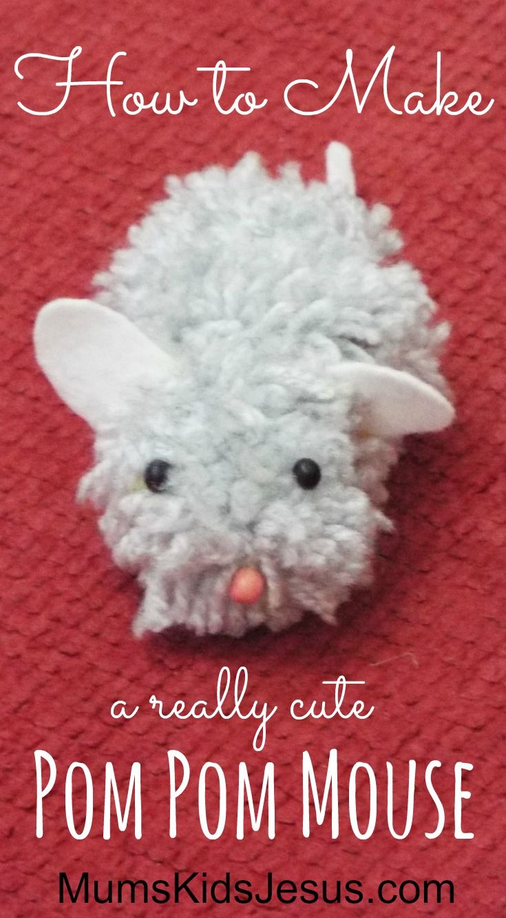 My 11-year-old daughter amazed me by making this really cute pom pom mouse in less than 15 minutes! She has a really quick and easy way of making pom poms. FInd out more....