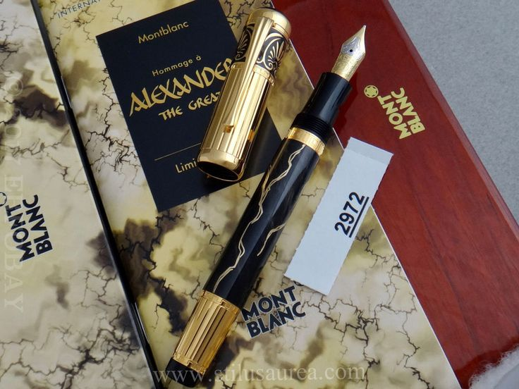 MONTBLANC Alexander the Great Patron of Art Limited Edition Year 1998 #2972/4810 | eBay