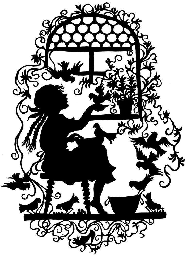 Ältere AK / PK: Postkarte mit Scherenschnitt-Motiv GRIMMS MÄRCHEN ASCHENPUTTEL in Sammeln & Seltenes, Ansichtskarten, Sonstige | eBay