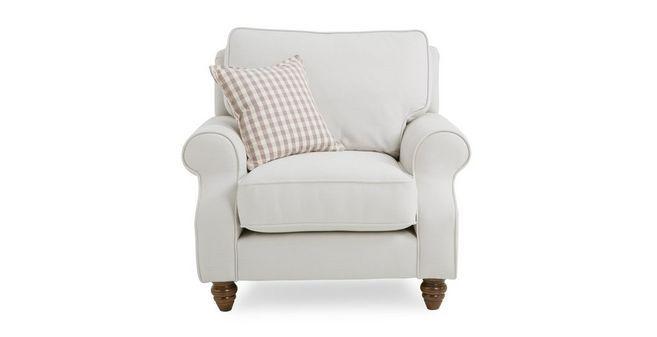 Ellie Plain Armchair with Check Scatter Cushion  Ellie Plain | DFS