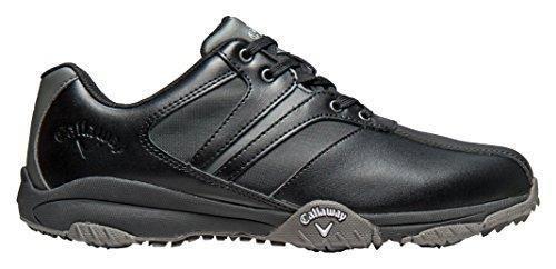Oferta: 69.95€ Dto: -37%. Comprar Ofertas de Callaway Chev Comfort - Zapatos de golf para hombre, color negro / gris, talla 44.5 (M) barato. ¡Mira las ofertas!