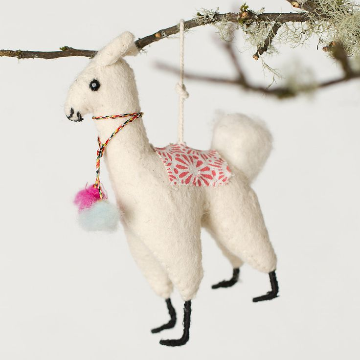 Felt Llama Ornament Trees Shops And For Her