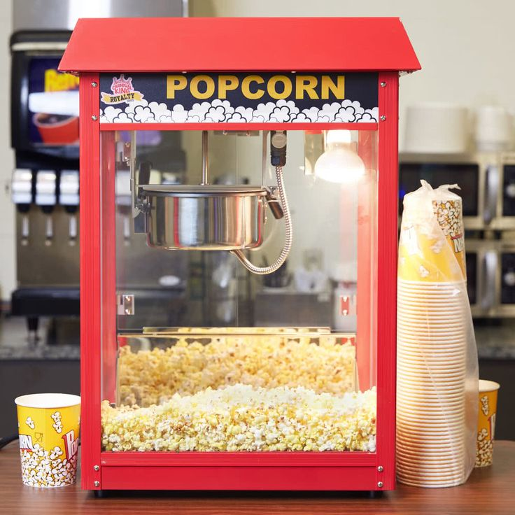 Carnival King PM30R Royalty Series 8 oz. Red Commercial Popcorn Machine / Popper - 120V, 1350W