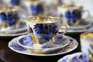 Kaffekopp Golden Garden från Ryska Lomonosov - La Reine Inredningar