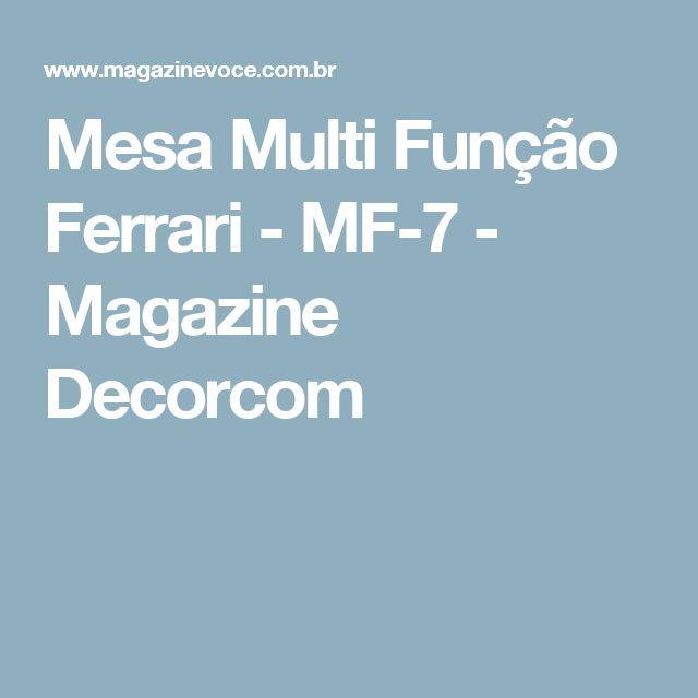 Mesa Multi Função Ferrari - MF-7 - Magazine Decorcom