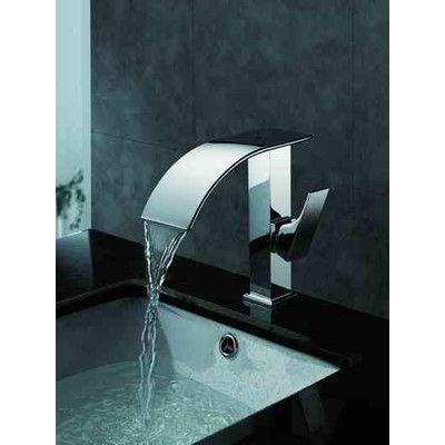 Single Hole Bathroom Waterfall Faucet