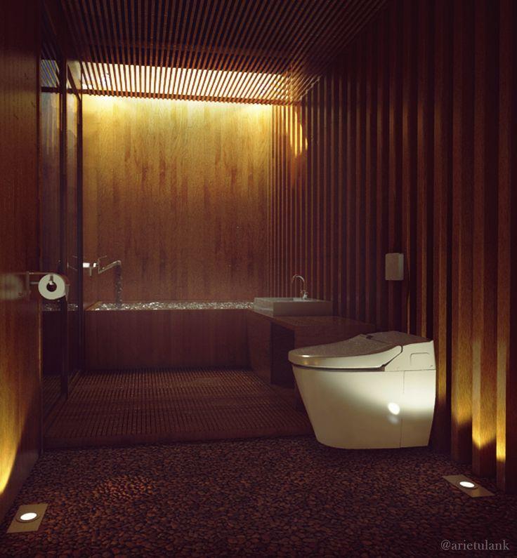 Wooden Bathroom Indonesia, Bogor