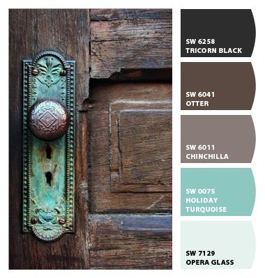 "Paint colors from Chip It! by Sherwin-Williams  ""Old Door"""