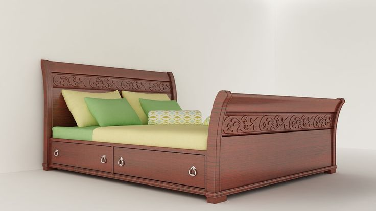 #modernbed #queensize #contemporary #bedroom #interior #style #space #furniture #design #modern #bed #simple #home #sleigh