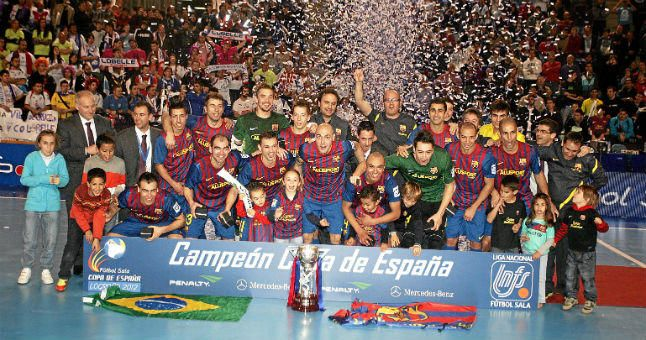 El Barcelona Alusport busca un histórico ´poker´ en la Copa de fútbol sala